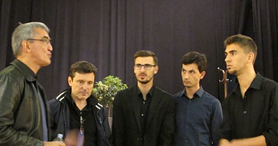 Cor D Lus : de g à d Philippe Franceschi, Didier Maurell, Vicent Cladère, Jean-Philippe Perdereau et Sébastien Cladère (photo MN)