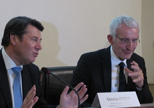 Se se son charpinhats, Se veson pus lei garrolhas entre Christian Estrosi e Guillaume Pepy (photo MN)