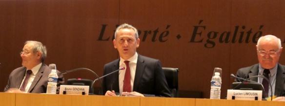 Au Conseil Départemental des BdR, Bruno Genzana et Lucien Limousin ont tenu à rassurer les associations sur leur subventionnement, mais aussi à les appeler à rapprocher leurs points de vue (photo MN)