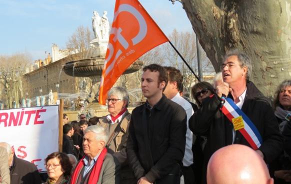 En pointe dans la défense des valeurs démocratiques historiques en Provence, Hervé Guerrera, du Partit Occitan (photo MN)