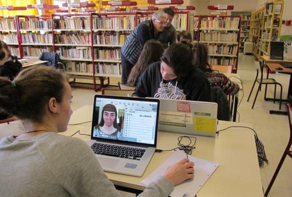 A partir de personnages de jeux vidéo et avec l'aide d'Isabelle Arvers, les lycéens vont créer leur film sur la tolérance (photo MN)