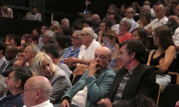 Le public des acteurs culturels était convié à écouter, pas à s'exprimer. Les membres actifs des ateliers de réflexion seront choisis par la Région (photo MN)