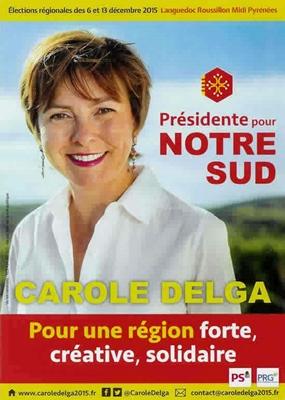 Forte, créative, solidaire...et excluante ? Carole Delga a troqué son Sud pour l'Occitanie d'un tiers des Occitans. Dans les autres Suds, on rumine amèrement (photo XDR)