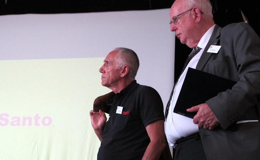 René Fregni et Philippe Martel, deux façons de dire le pays (photo MN)