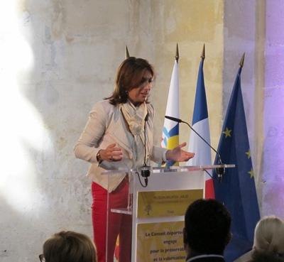 20 septembre 2015, la présidente du CG13 Martine Vassal annonce qu'elle a décidé de financer les travaux du Museon. Fin des incertitudes (photo MN)