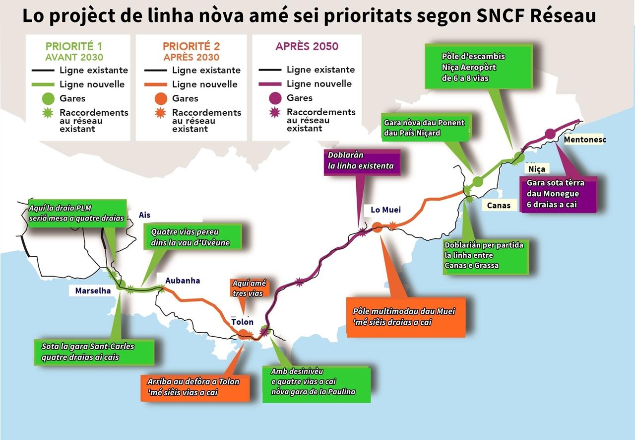 Le tracé et les aménagements mis à la concertation par SNCF Réseau