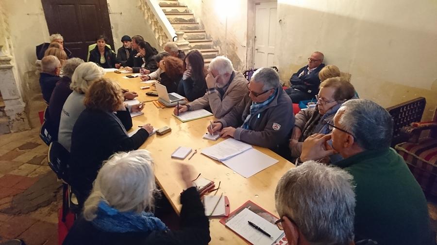 Il y a une semaine, à la Bastide Marin, les associations porteuses du projet de Fest'Aqui, en réglaient les détails organisationnels (photo MN)