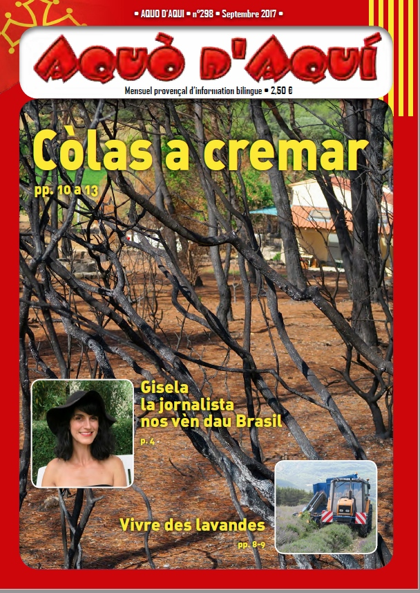Aquò d'Aquí de septembre marche sur les cendres