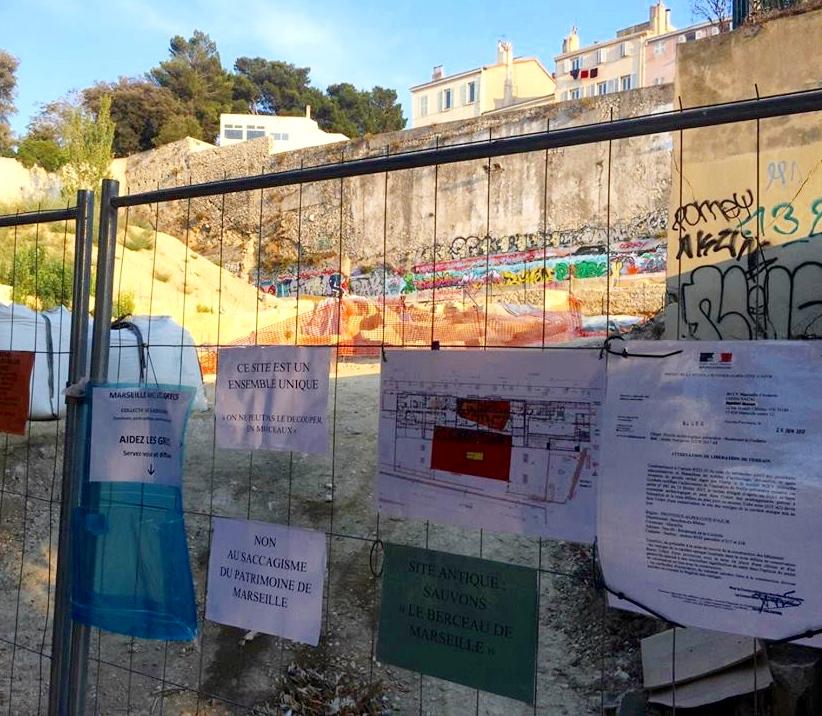 Rue de la Corderie : immeuble Vinci, ou vestiges grecs du Vè avant JC ? (photo AR DR)