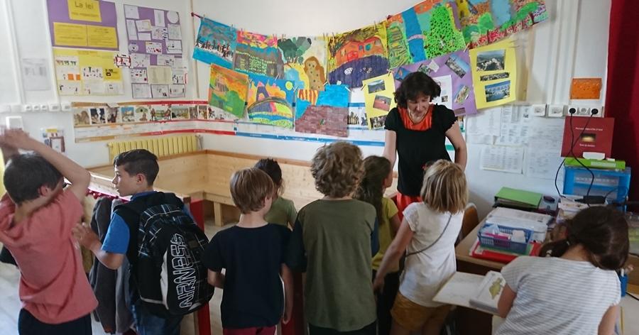 Quarante inscrits pour l'école associative en oc, et une deuxième enseignante, qui termine sa formation au centre Aprene de Béziers (photo MN)