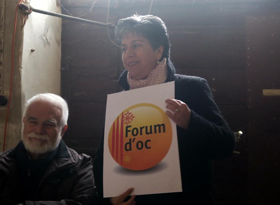 Alain Barthélemy, Mireille Benedetti, pour 2018 un effort en termes de communication pour la langue régionale (photo MN)