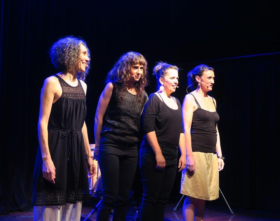 La Mal coiffée, Marie Coumes est tout à droite (photo MN)