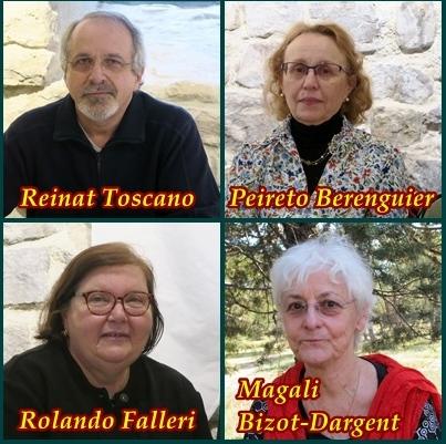 Quatre des auteurs présents à la Librejado (photo MN)