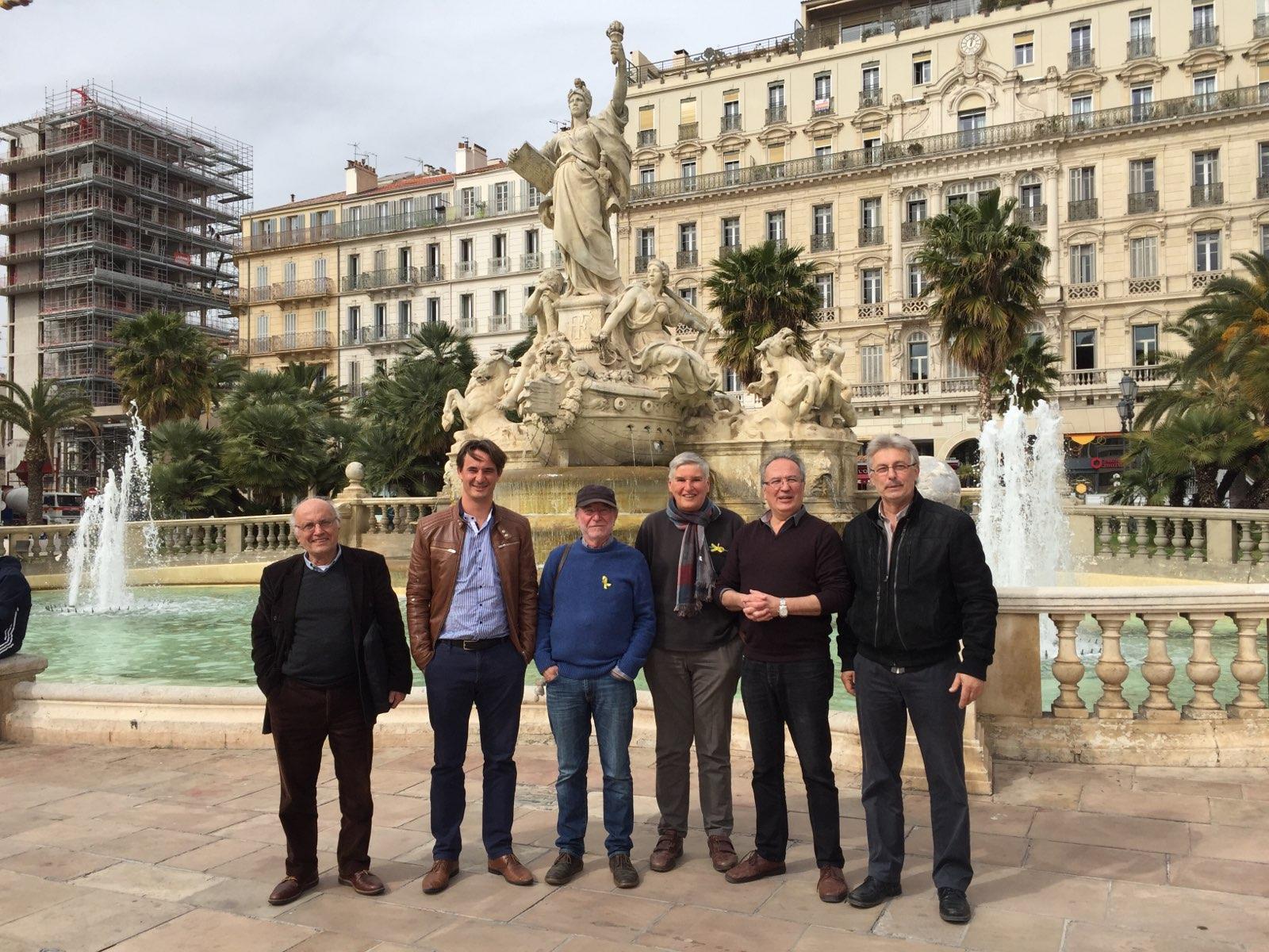 Les membres fondateurs du collectif à Toulon (photo, avec l'aimable autorisation de Pierre Louis Pages DR)