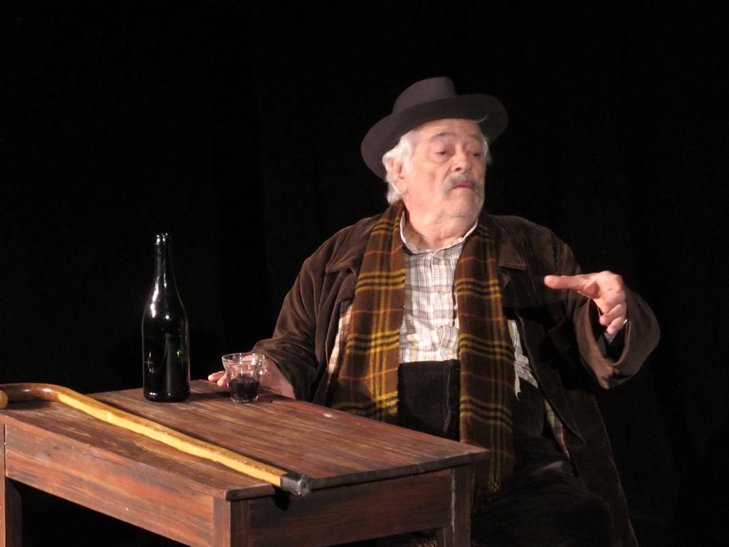 Dans le rôle de Gaston Dominici, vu comme une victime de la vie et une victime désignée de la Justice (et de la presse) à cause de son français peu orthodoxe (photo MN)