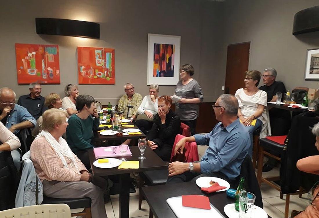 32 participants pour inaugurer le Café Provençal de Forcalquier (photo BD DR)