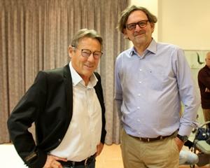 Gérard Rocchia à gauche et Xavier Crépin : une histoire complexe de l'immigration en Provence, ou quand nécessité fait loi (photo Francis José-Maria DR)