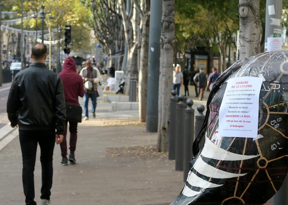 Mercredi 14 novembre, appel à une manifestation, légitime mais sévèrement réprimée (photo MN)