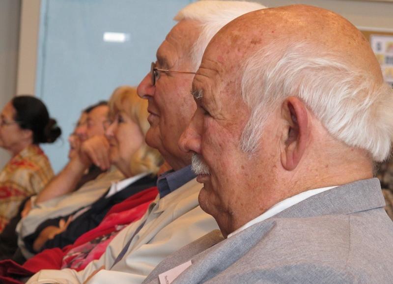 En 2012 Pèire Pessemesse reçoit le Grand Prix Littéraire de Provence à Ventabren (photo MN)
