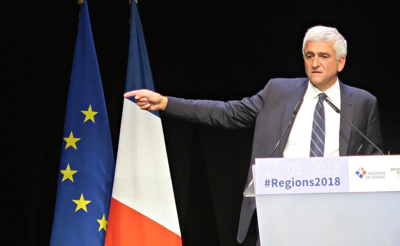 27 septembre à Marseille, Hervé Morin, le président de Régions de France. La Commission Cultures et Langues Régionales vient de protester contre la réforme des lycées (photo MN)