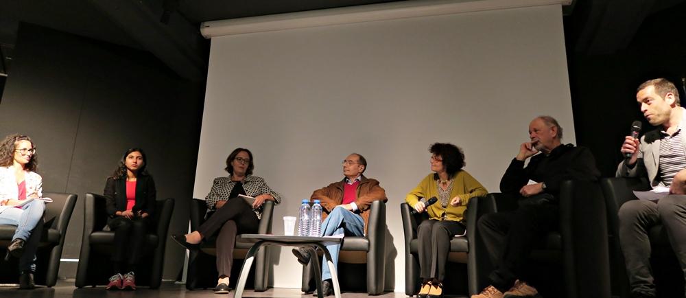 En novembre dernier, table ronde organisée par le Forum d'Oc à Nice, sur les difficultés de l'occitan à l'école (photo RM)
