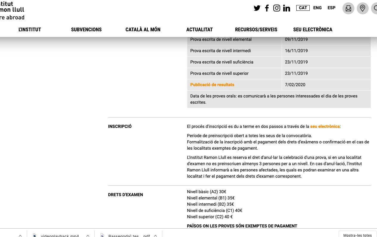 Certifications de catalan à Aix-en-Provence
