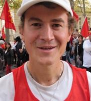 Guilhem Vaton, le président de l'association de préfiguration de la Calandreta de Valréas, ici en 2015 à Montpellier (photo MN)