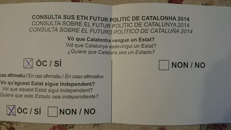Pour la première fois au monde, un bulletin de vote rédigé en occitan (photo MN)