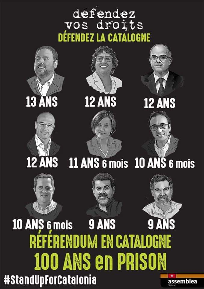 Les prisonniers politique catalans (photo XDR)