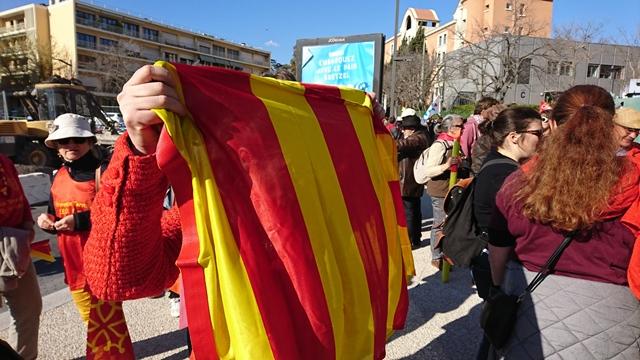 20 mars dernier, rassemblement de protestation contre la Réforme des Lycées, devant le Rectorat d'Aix-Marseille (photo MNà