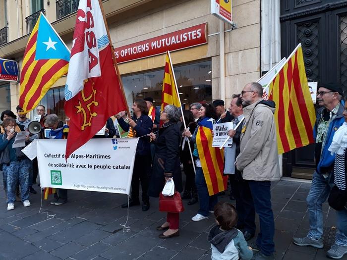 A Nice samedi près du Consulat d'Espagne (photo CSPC DR)