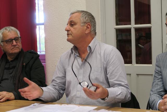"""François Alfonsi : """"une vingtaine de députés ont déjà signé l'appel, il faut parler aux maires et avec eux commencer à renverser le rapport de forces"""" (photo MN)"""