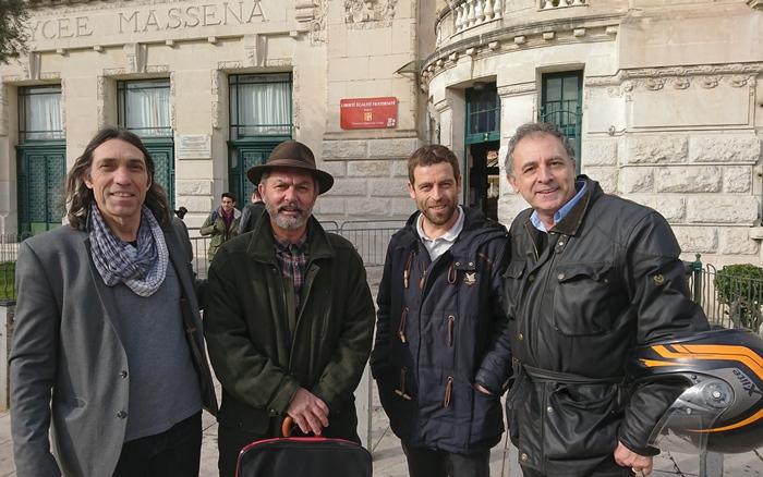 Quelques uns parmi les enseignants d'Occitan-Langue d'Oc de l'Académie de Nice. Une situation de résistance forcée par la réforme des lycées (photo MN)