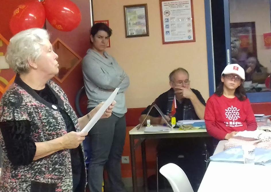 A Saint-Privat le Vieux (30) pour la première fois la Dictada a été organisée, avec un texte de l'écrivaine (photo) Martina Michèl (Photo EM DR)