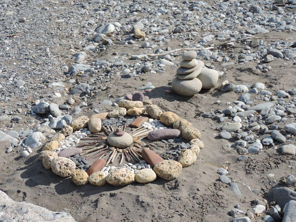 Rencontré sur les rives de la Bléone, la créativité en temps de confinement (photo AB DR)