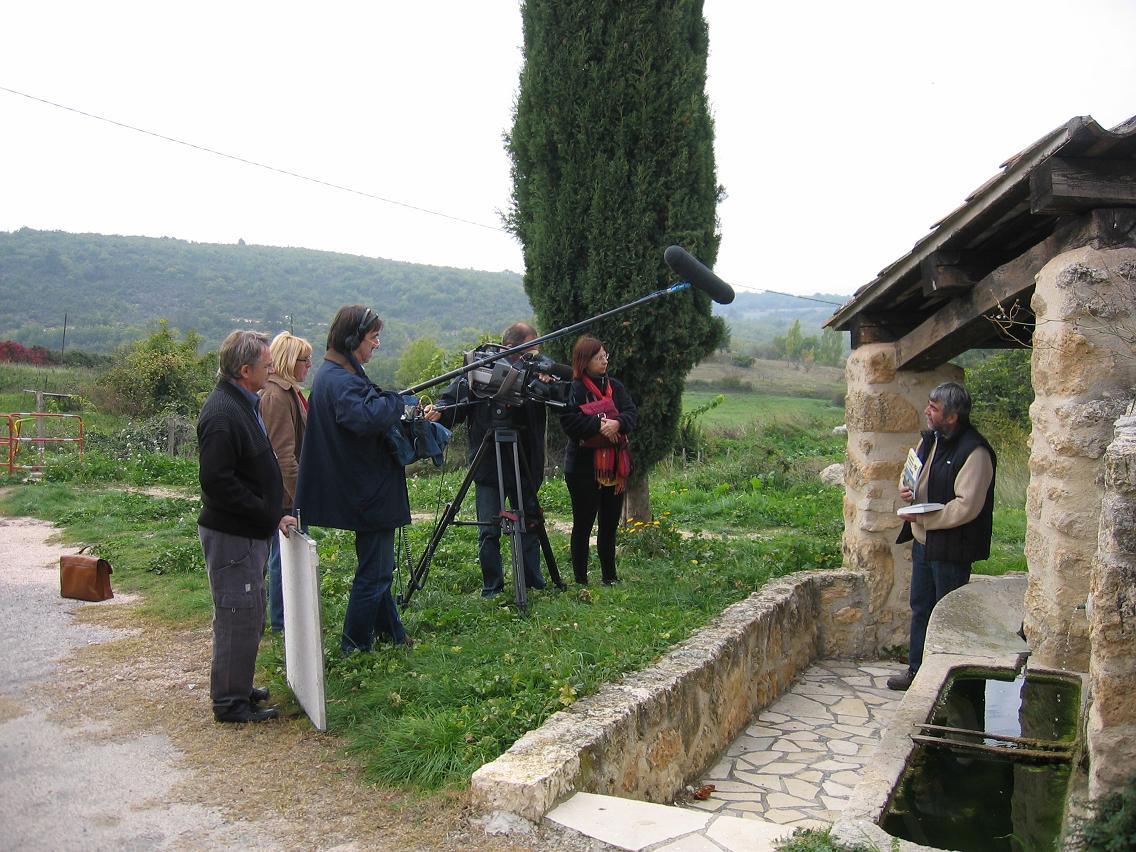 La télé régionale vient pour parler du film (photo LR DR)