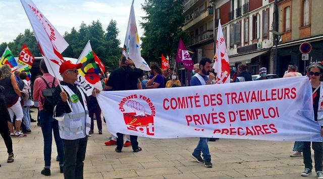 Les emplois précaires vont souvent avec une santé précaire...solidarité bien comprise à Montauban (photo DM DR)