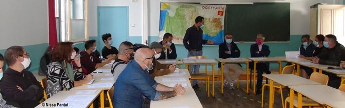 A Nice l'Association des enseignants de langue d'oc a profité de l'événement pour tenir son assemblée générale (photo Nissa Pantaï DR)