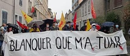 En Béarn une banderolle ironique (photo XDR)