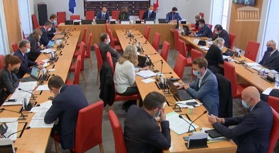 Le mercredi 18/11 2020 en commission des Lois à l'Assemblée Nationale (photo XDR)