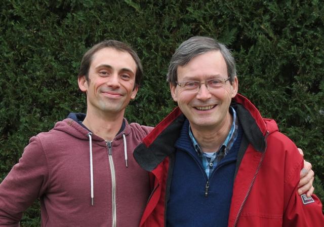 Michaël Crosa (dessinateur) et Jean-Luc Domenge (auteur) en 2017 (photo MN)