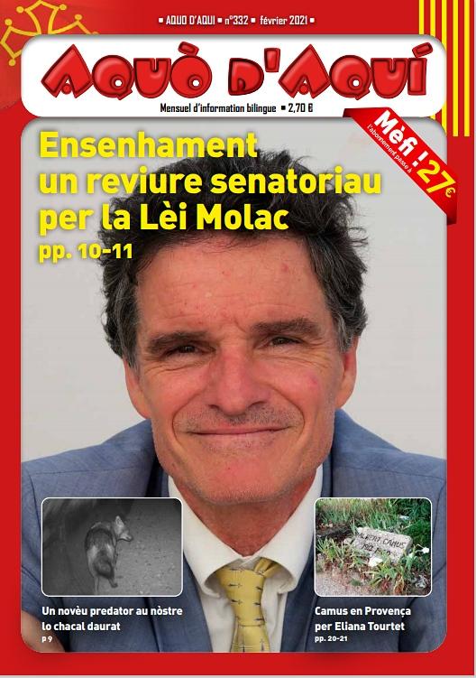 Enseignement et formation en langue d'oc, y compris sous l'angle politique, font un dossier copieux pour ce numéro de février