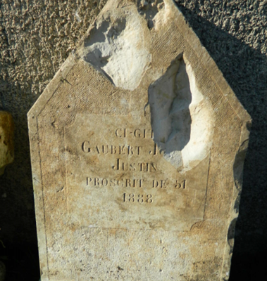 Déporté en Algérie, le cultivateur était revenu chez lui ; grâce à cette vieille pierre tombale ressurgie il ne sera pas oublié (photo Patrick Claude DR)