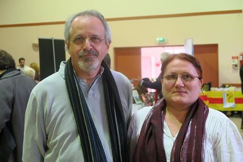 Jaumeto Ramel travaillait avec Joan-Lois, en particulier pour les aspects musicaux du travail de trasmission. Ici avec Reinat Toscano dont elle a mis aussi en musique les textes (photo XDR)