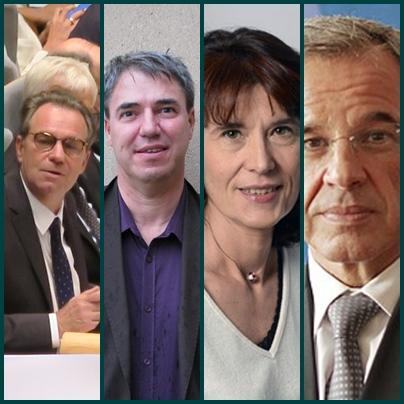 De g à d Renaud Muselier, Hervé Guerrera, Valérie Laupies et Thierry Mariani (montage XDR)