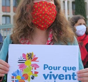 La saisine du Conseil Constitutionnel à propos de la loi Molac, orchestrée depuis le ministère de l'Enseignement, a contribué à mobiliser plus largement encore des militants des langues de France (photo MN)