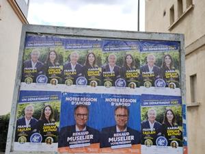 Panneaux électoraux en juin 2021 ( photo MN)