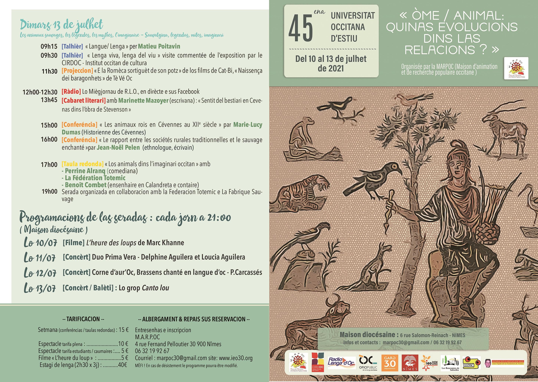 L'Université Occitane d'Eté à Nîmes s'intéresse à notre rapport à l'animal