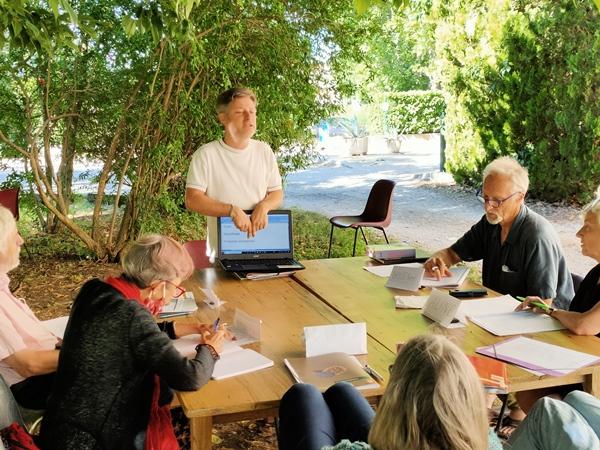L'atelier de langue occitane sur le mode ludique et participatif (photo MN)