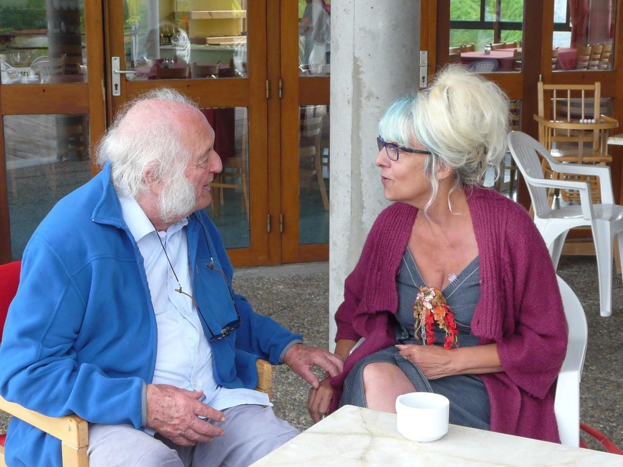 Avec l'artiste Jaqueline Cyvoct au début des années 2010 (photo XDR)